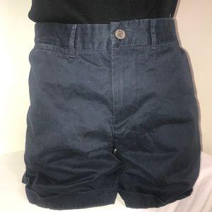 Joe Fresh Navy High Rise Buttoned Cuffed Shorts